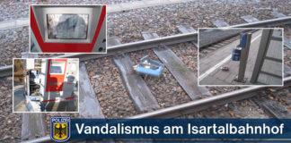 Vandalismus am S-Bahnhaltepunkt Großhesselohe Isartalbahnhof