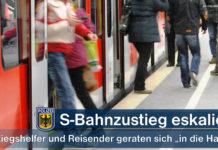 S-Bahnzustieg eskaliert