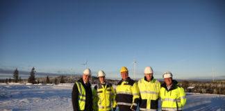Onshore - Windpark Raskiftet eingeweiht