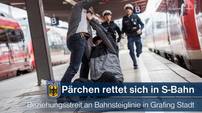 Am Bahnsteig Grafing Stadt attackiert