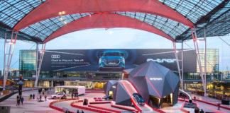 Audi e-tron startet am Flughafen München durch