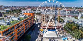 Das Riesenrad Hi-Sky im Werksviertel-Mitte - Foto: MAURER SE