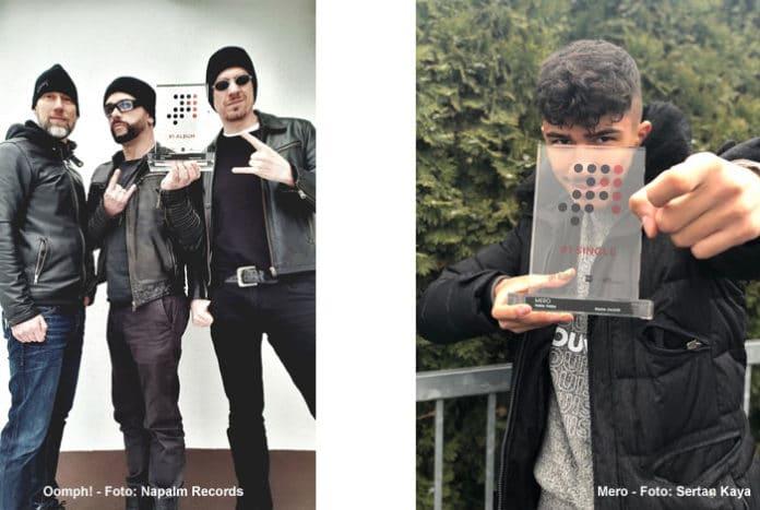 """Offizielle Deutsche Charts: Oomph! und Mero holen Spitzenplatzierung und """"Nummer 1 Award"""""""