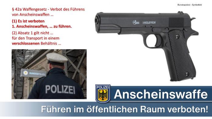 Jugendlichen Softairpistole abgenommen