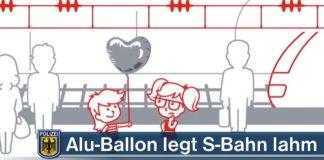 Alu-Ballon legt S-Bahn lahm