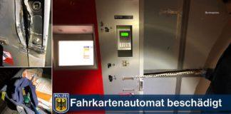 Fahrausweisautomat versucht aufzubrechen: Drei Tatverdächtige festgenommen