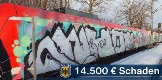 Graffititäter verursachen Sachschaden in Höhe von rund 14.500 Euro