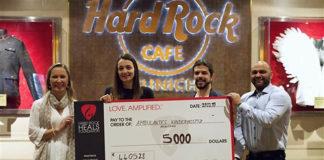 "Hard Rock Cafe München spendet 5.000 US-Dollar an ""Stiftung Ambulantes Kinderhospiz München"""