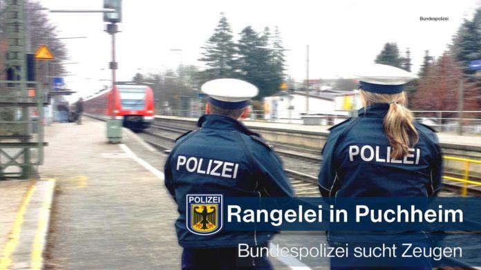 Rangelei am Bahnsteig Puchheim - Bundespolizei sucht Zeugen