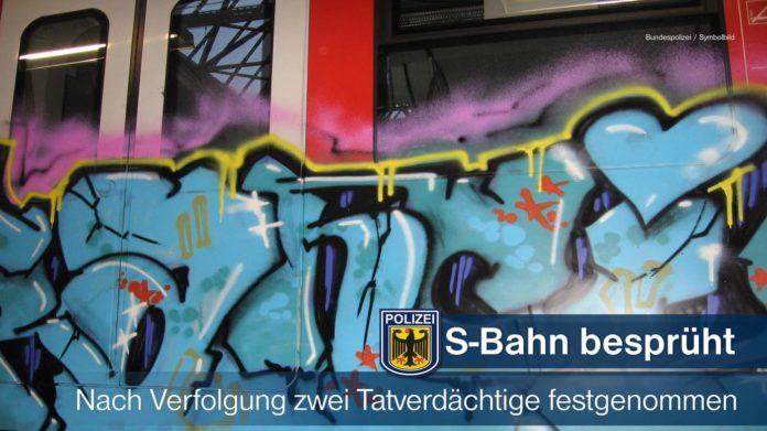 Sprayer auf frischer Tat festgenommen - S-Bahn in Höllriegelskreuth besprüht