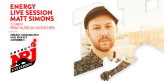 Die ENERGY LIVE SESSION mit Matt Simons findet am 10.April in München statt