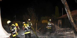 Feuer im Schrebergarten
