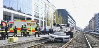 Spektakulärer Verkehrsunfall