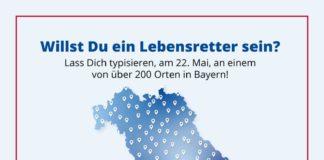 Größte Typisierungsaktion Bayerns - über 200 Orte sind aktiv gegen Leukämie am 22. Mai 2019