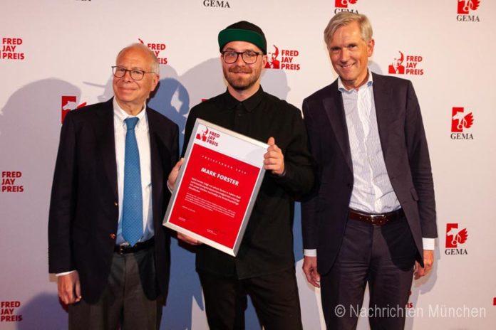 Fred Jay Preis 2019: Mark Forster erhält renommierten Textdichterpreis