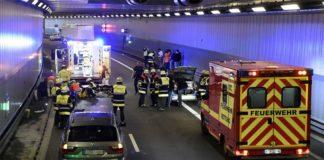 Motorradunfall im Luise-Kiesselbach-Tunnel