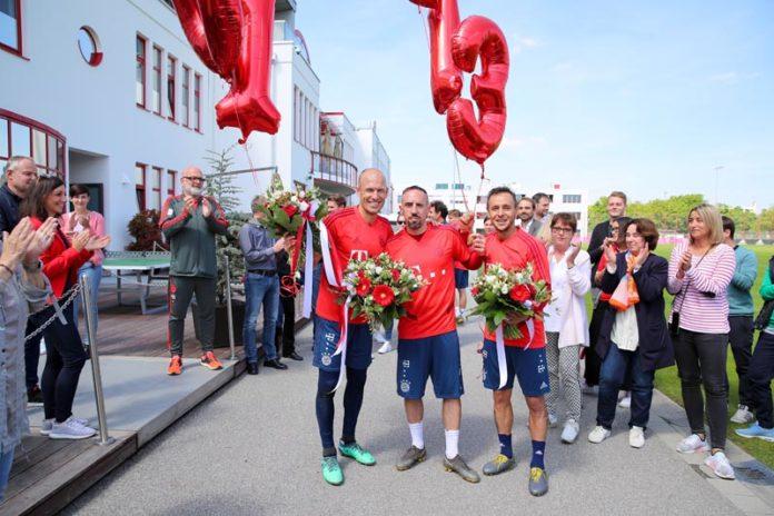FC Bayern: Verabschiedung von den Spielern Arjen Robben, Rafinha und Franck Ribéry