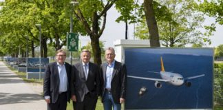 """Ausstellung """"Up and away – 50 Jahre Airbus"""""""