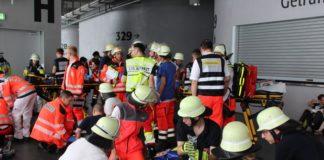 Rotes Kreuz simuliert Massenpanik in der Allianz-Arena: Gemeinsame Übung für den Ernstfall