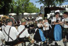 """""""Fest der Blasmusik und Tracht"""" am 23.6.2019 im Biergarten am Viktualienmarkt"""