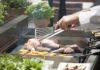 Köstlichkeiten am Grill im Gastgarten