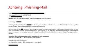 Bayerisches Landeskriminalamt warnt: Betrügerische Phishing E-Mails aus der Buchhaltung