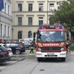 Odeonsplatz: Brand in Bürogebäude