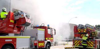 Großübung der Feuerwehr München