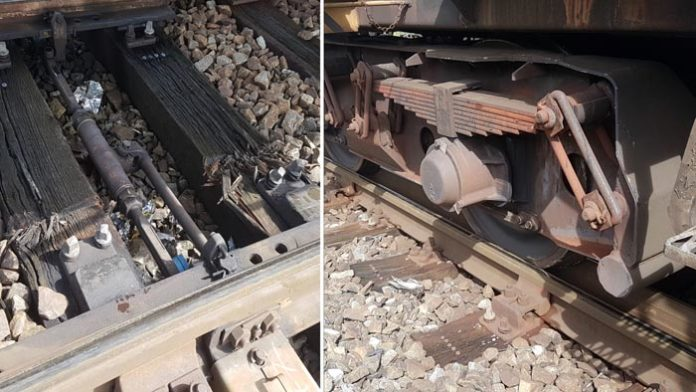 Zug im Rangierbahnhof entgleist