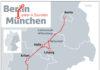 Infografik: Streckenverlauf Berlin-München