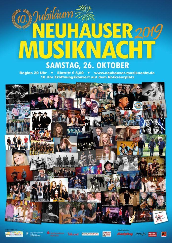 Jubiläum! 10. Neuhauser Musiknacht am Samstag, dem 26. Oktober 2019