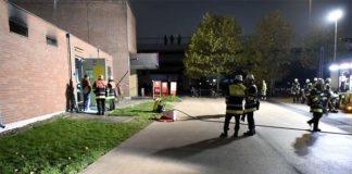Brand in einer Trafostation der Deutschen Bahn