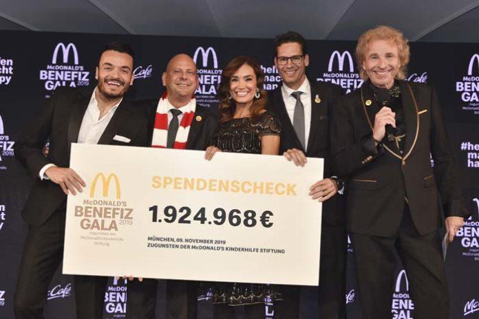 McDonald's Benefiz Gala 2019 - 1.924.968 Euro zugunsten Familien schwer kranker Kinder