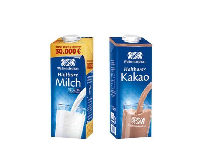 Rückruf Weihenstephan H-Milch 3,5% (1 Liter) und Weihenstephan H-Kakao (1 Liter)