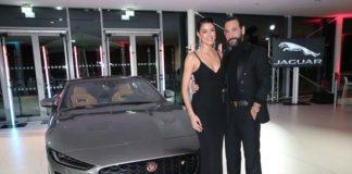 Weltpremiere des Jaguar F-TYPE mit Rebecca Mir in München