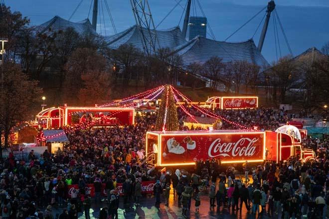 Coca-Cola Weihnachtstour in München