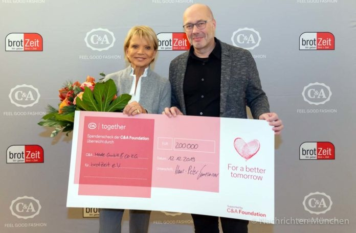 Die C&A Foundation und C&A spenden 200.000 € an brotZeit e.V.
