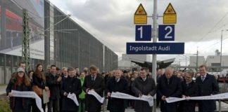 """Mit der Bahn direkt ins Werk: Neuer Bahnhof """"Ingolstadt Audi"""" eröffnet"""