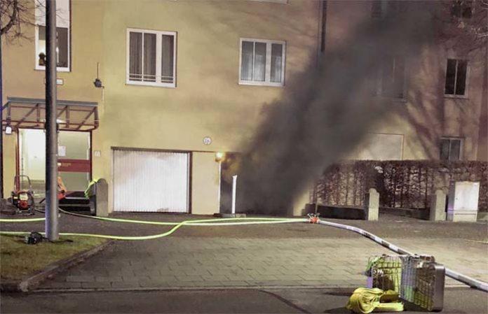 Tiefgaragenbrand in Schwabing-Freimann