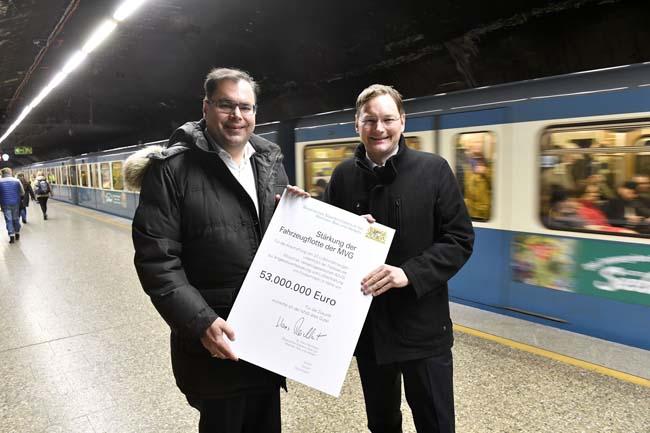 Münchner U-Bahn: Freistaat fördert neue Züge mit 53 Millionen Euro