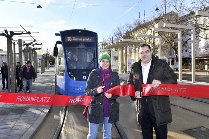 Tramstation Romanplatz eröffnet
