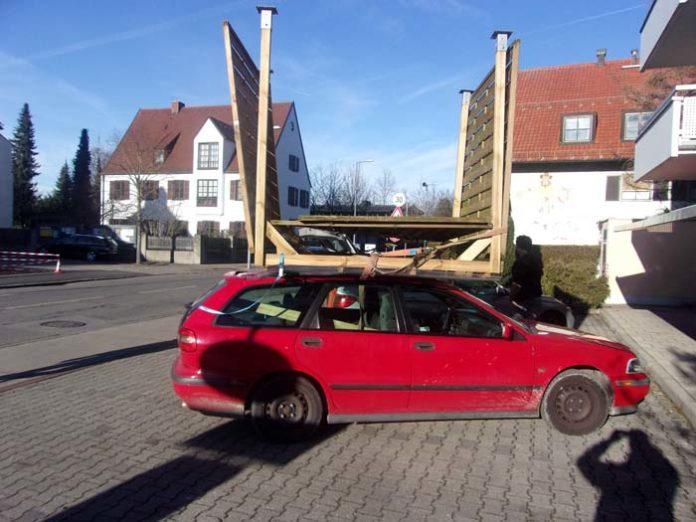 Fahrzeugkontrolle wegen Verstoß gegen die Ladungssicherung