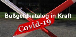 "Bußgeldkatalog ""Corona-Pandemie"" ab heute in Kraft getreten"