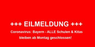 Coronavirus: Bayern schließt alle Schulen & Kitas bis 20.04.2020
