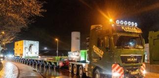 Riese auf Reisen: Erste von zwei neuen Gasturbos erreicht Energiestandort Süd