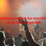 Muffatwerk stellt Veranstaltungsbetrieb bis einschließlich 19.04.2020 ein