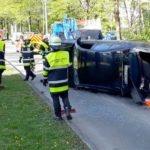 Neuperlach: Fahrzeug bei Unfall umgekippt