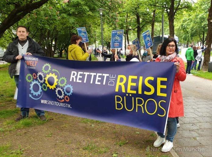 Demo der Tourismusbranche: Aktionsbündnis fordert eine nicht rückzahlbare Beihilfe