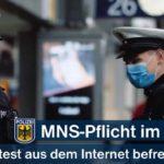 Ungeeignetes Online-Attest - Mund-/Nasen-Bedeckungspflicht im ÖPNV