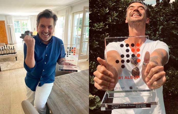 """Thomas Anders und Florian Silbereisen feiern Charterfolg mit """"Nummer 1 Award"""